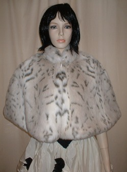 Snow Lynx Faux Fur Cape