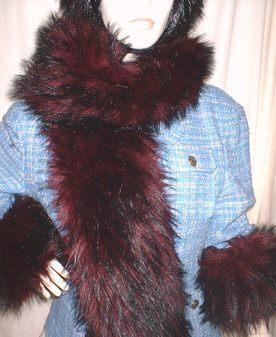 Tuscan Red Faux Fur Scarf