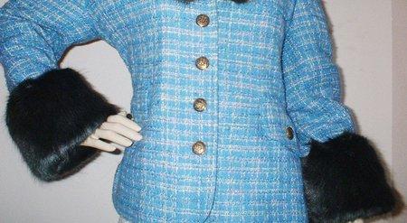 Charcoal Mink Faux Fur Cuffs