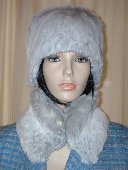 Silver Sable Faux Fur Collar