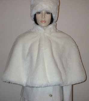 Marilyn Faux Fur Cape