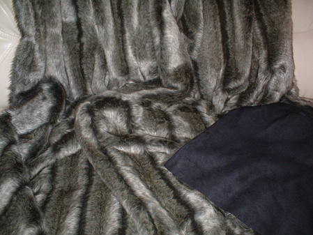 Smokey Mountain Faux Fur Throw