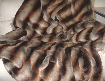 Golden Brown Chinchilla Faux Fur Both Sides