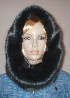 Charcoal Mink Faux Fur Cowl/Neck Warmer