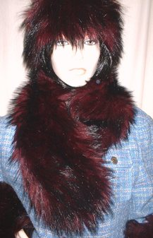 Tuscan Red Faux Fur Neck Scarf