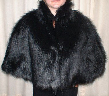 Black Bear Faux Fur Cape