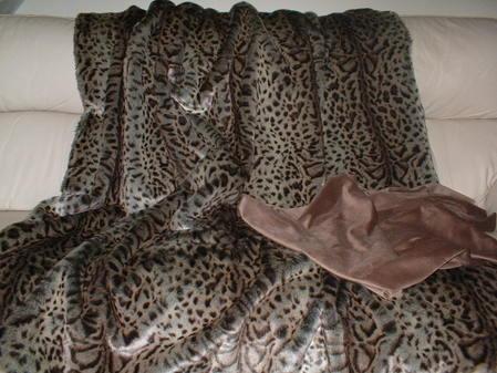 Ocelot Faux Fur Throw