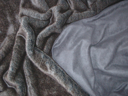 Charcoal Faux Suede per meter