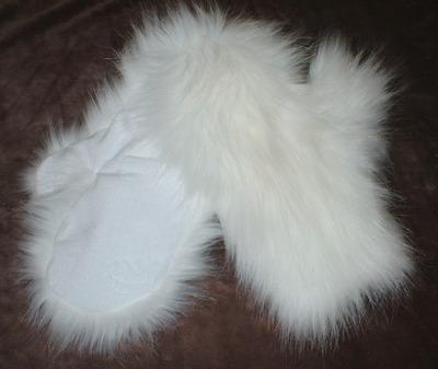 Polar Bear Faux Fur Mittens