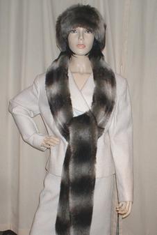 Chinchilla Faux Fur Super Long Scarf