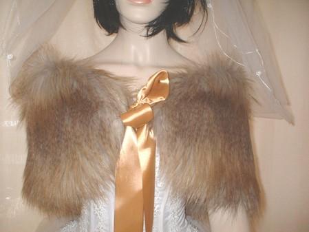 Coyote Faux Fur Wrap