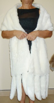 Marilyn Faux Fur Tails Stole