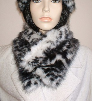 Panther Faux Fur Long Collar