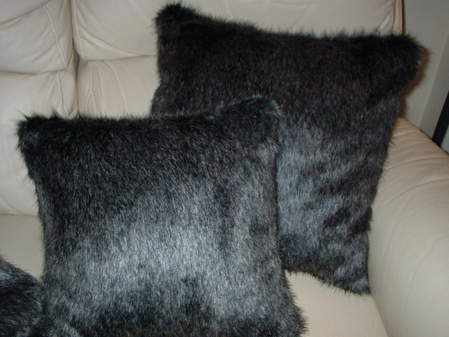 Wolfhound Faux Fur Cushion 20 x 20 inches