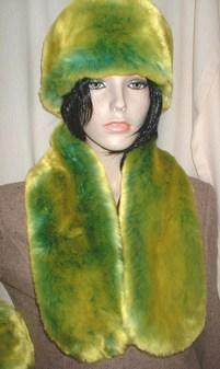 Pistachio Flash Faux Fur Neck Scarf