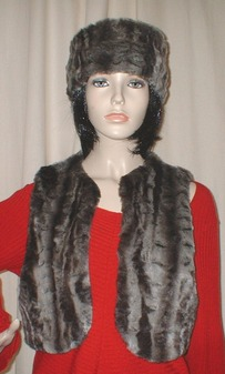 Vintage Silver Astra Faux Fur Bolero Waistcoat