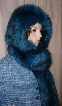 Blue Lagoon Faux Fur Hoodie