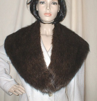 Brown Bear Faux Fur Shawl Collar
