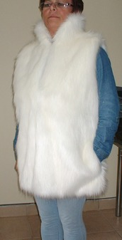 Polar Bear Faux Fur Long Gilet