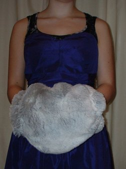 SALE Tissavel Silver Sable Faux Fur Muff