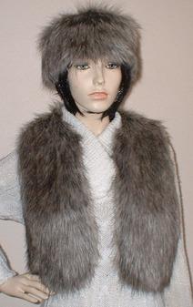 Timber Wolf Faux Fur Bolero/Waistcoat