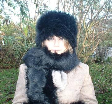 Black Bear Faux Fur Hat