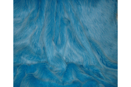 Sky Blue Faux Fur Cropped Jacket