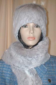 Tissavel Silver Sable Faux Fur Hat