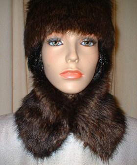 Brown Bear Faux Fur Collar