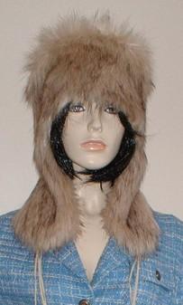 Fawn Musquash Faux Fur Trapper Hat