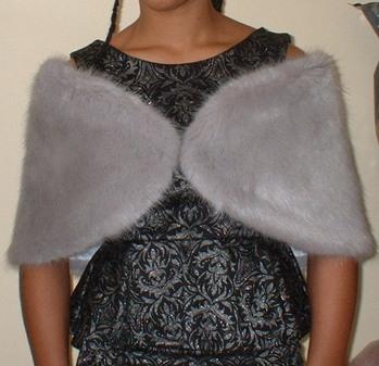 Silver Mink Faux Fur Wrap