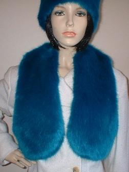Azure Blue Faux Fur Bolero/ Waistcoat