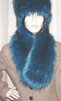 Blue Lagoon Faux Fur Neck Scarf