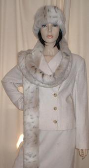 Snow Lynx Faux Fur Super Long Scarf