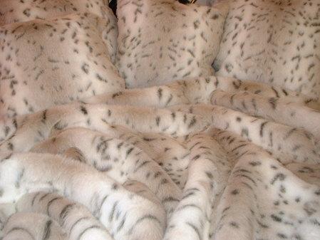 Snow Lynx Faux Fur per meter