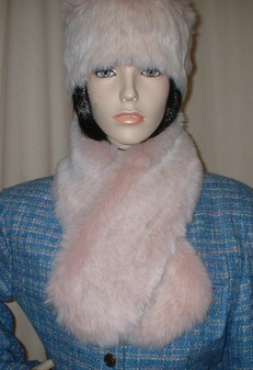 Pink Champagne Faux Fur Neck Scarf