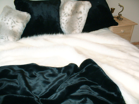 Black Moleskin Faux Fur Fabric per meter