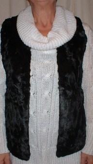 Black Astra Faux Fur Gilet