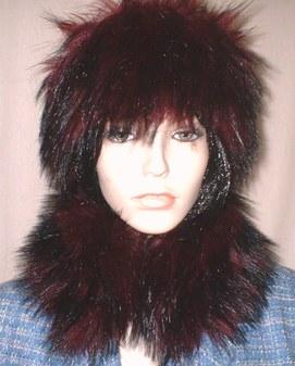 Tuscan Red Faux Fur Collar
