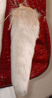 Sunny Bear Faux Fur Tail Handbag Charm
