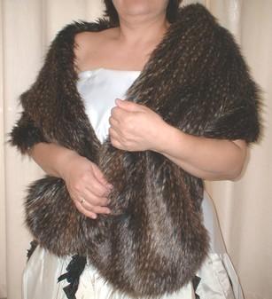 Kodiac Bear Faux Fur Stole