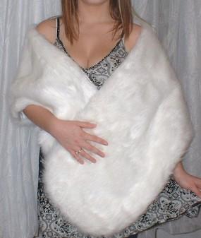 Snow White Faux Fur Stole