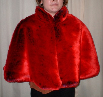 Tissavel Devil Red Faux Fur Cape