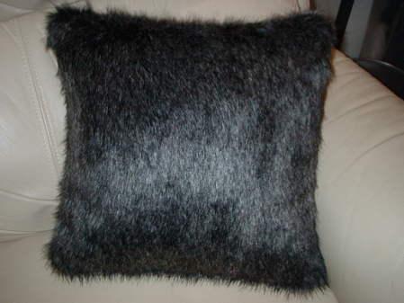 Wolfhound Faux Fur Cushion 24x24 inches