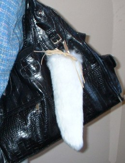 Snow White Faux Fur Tail Handbag Key Charms