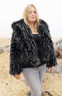 Pepe Faux Fur Cropped Jacket