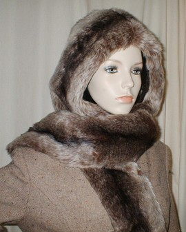 Teardrop Chinchilla Faux Fur Hoodie