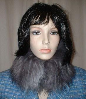 Siberian Wolf Faux Fur Collar