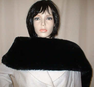 Black Mink Faux Fur Fling