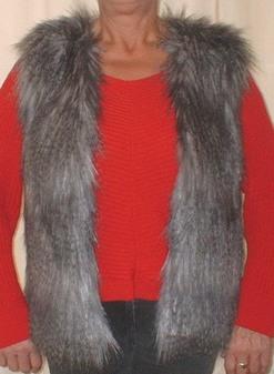 Siberian Wolf Faux Fur Gilet